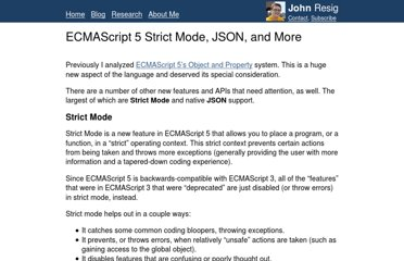 http://ejohn.org/blog/ecmascript-5-strict-mode-json-and-more/