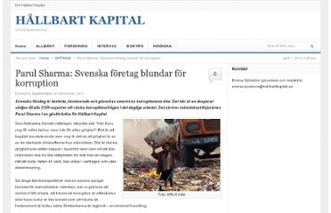http://hallbartkapital.se/2011/11/parul-sharma-svenska-foretag-blundar-for-korruption/