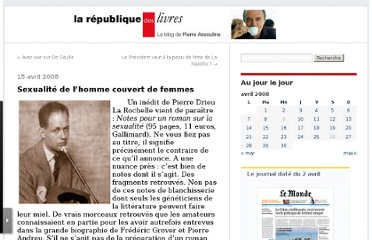 http://passouline.blog.lemonde.fr/2008/04/15/du-sexe-de-drieu/