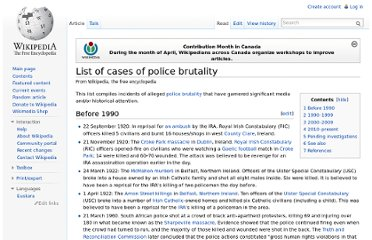http://en.wikipedia.org/wiki/List_of_cases_of_police_brutality