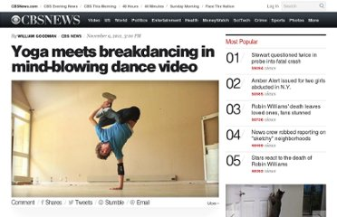 http://www.cbsnews.com/8301-504784_162-57321669-10391705/yoga-meets-breakdancing-in-mind-blowing-dance-video/