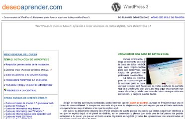 http://www.deseoaprender.com/WordPress/tema02/crear-base-datos-mysql-para-wordpress-tema-2-leccion-2.html