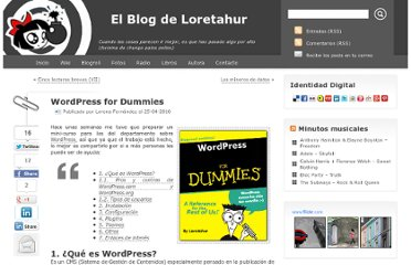 http://blog.loretahur.net/2010/04/wordpress-for-dummies.html
