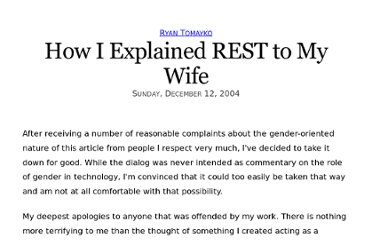 http://tomayko.com/writings/rest-to-my-wife