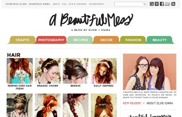 http://abeautifulmess.typepad.com/my_weblog/styling-hair-and-makeup-tips-tricks.html