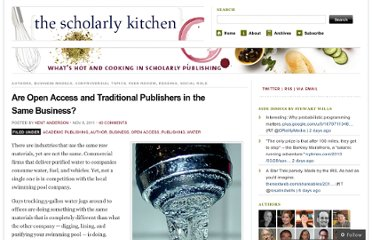 http://scholarlykitchen.sspnet.org/2011/11/08/are-open-access-and-traditional-publishers-in-the-same-business/