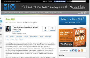 http://www.managementexchange.com/blog/twenty-questions-i-ask-myself-every-day