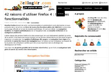 http://www.ze-blog-mr.com/42-raisons-dutiliser-firefox-4-liste-des-fonctionnalites/
