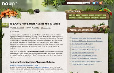 http://www.noupe.com/jquery/45-jquery-navigation-plugins-and-tutorials.html
