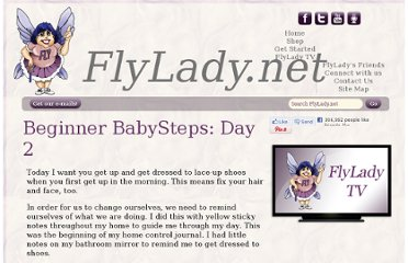 http://www.flylady.net/d/getting-started/31-beginner-babysteps/day-2/