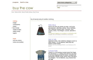 http://www.buythecow.com/children/clothing/hip.html