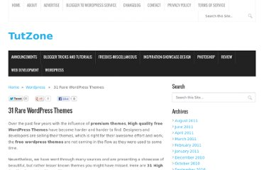 http://tutzone.net/2010/01/31-rare-wordpress-themes.html