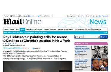 http://www.dailymail.co.uk/news/article-2059314/Roy-Lichtenstein-painting-sells-record-27m-Christies-auction.html