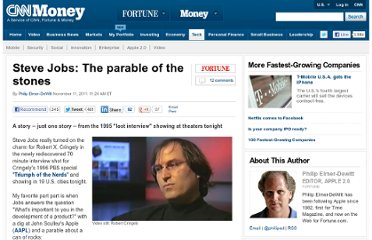 http://tech.fortune.cnn.com/2011/11/11/steve-jobs-the-parable-of-the-stones/