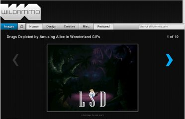 http://wildammo.com/2010/12/01/drugs-depicted-by-amusing-alice-in-wonderland-gifs/