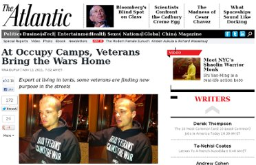http://www.theatlantic.com/politics/archive/2011/11/at-occupy-camps-veterans-bring-the-wars-home/248220/#.Tr0xurAJLMc.twitter