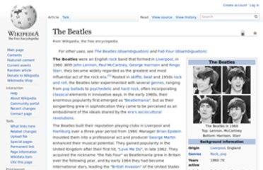 http://en.wikipedia.org/wiki/The_Beatles
