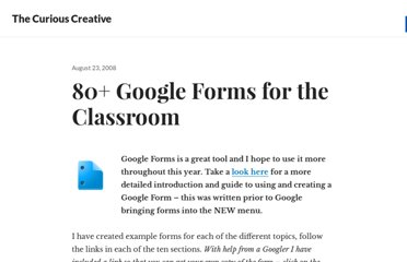 http://edte.ch/blog/2008/08/23/10-google-forms-for-the-classroom/#.TrxgI1TphDw.twitter