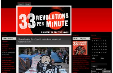 http://33revolutionsperminute.wordpress.com/2011/11/03/simon-jenkins-doesnt-get-it-protest-and-nuisance-at-occupy-london/