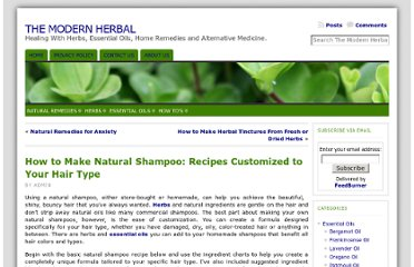 http://themodernherbal.com/2011/02/how-to-make-natural-shampoo-recipes-customized-to-your-hair-type/