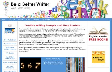 http://www.be-a-better-writer.com/writing-prompts.html