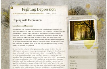 http://www.fightingdepression.co.uk/coping-with-depression