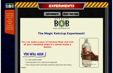 http://www.sciencebob.com/experiments/magic_ketchup.php