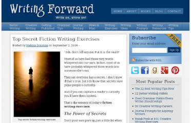 http://www.writingforward.com/writing_exercises/fiction-writing-exercises/top-secret-fiction-writing-exercises