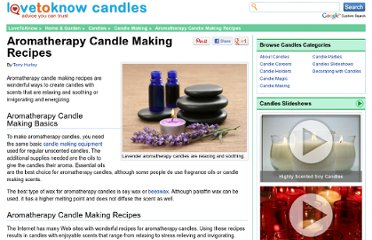 http://candles.lovetoknow.com/Aromatherapy_Candle_Making_Recipes