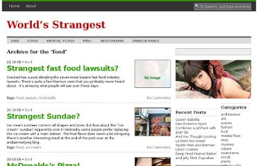 http://www.worldsstrangest.com/topics/food/