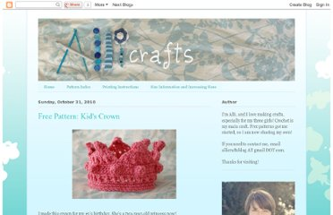 http://allicrafts.blogspot.com/2010/10/free-pattern-kids-crown.html