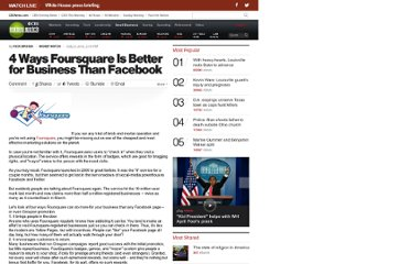 http://www.cbsnews.com/8301-505143_162-28651838/4-ways-foursquare-is-better-for-business-than-facebook/