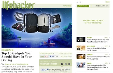 http://lifehacker.com/5858925/top-10-gadgets-you-should-have-in-your-go-bag