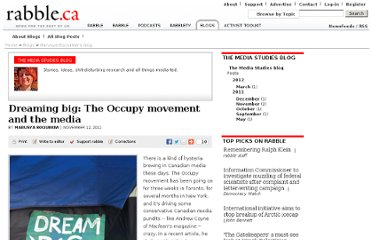 http://rabble.ca/blogs/bloggers/marusya-bociurkiw/2011/11/dreaming-big-occupy-movement-and-media-0