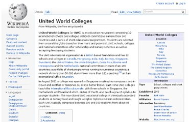 http://en.wikipedia.org/wiki/United_World_Colleges