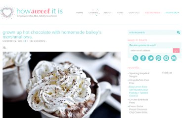 http://www.howsweeteats.com/2011/11/grown-up-hot-chocolate-with-homemade-baileys-marshmallows/