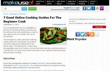 http://www.makeuseof.com/tag/7-helpful-online-resources-beginner-cook/