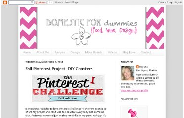 http://domesticfordummies.com/2011/11/fall-pinterest-project-diy-coasters.html