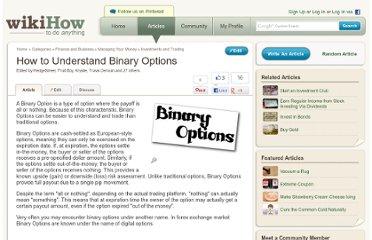 http://www.wikihow.com/Understand-Binary-Options