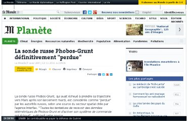http://www.lemonde.fr/planete/article/2011/11/12/la-sonde-russe-phobos-grunt-definitivement-perdue_1603055_3244.html