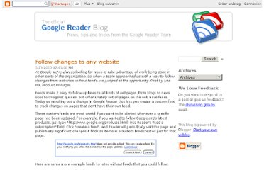 http://googlereader.blogspot.com/2010/01/follow-changes-to-any-website.html