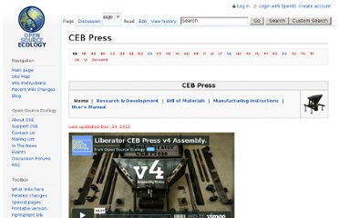 http://opensourceecology.org/wiki/CEB_Press?old-url=true&title=CEB_Press#Step_3._Product_Definition