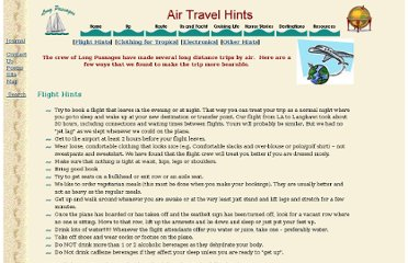 http://www.longpassages.org/air_travel_hints.htm