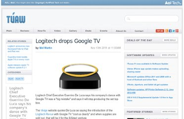 http://www.tuaw.com/2011/11/13/logitech-drops-google-tv-leaving-apple-tv-as-dominant-player/