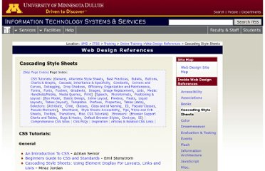 http://www.d.umn.edu/itss/support/Training/Online/webdesign/css.html#dtd