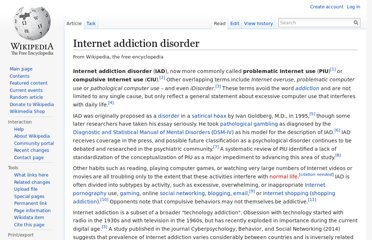 http://en.wikipedia.org/wiki/Internet_addiction_disorder