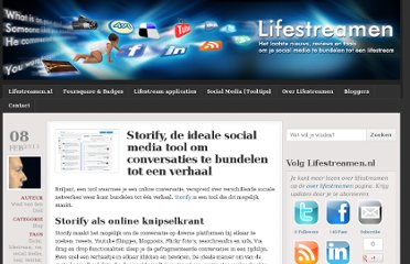 http://www.lifestreamen.nl/2011/02/storify-social-media-conversaties-plakken/