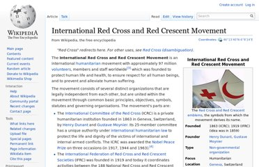 http://en.wikipedia.org/wiki/International_Red_Cross_and_Red_Crescent_Movement