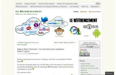 http://referenceur.wordpress.com/2009/04/01/yahoo-pipes-tutorial-un-tutoriel-yahoo-pipes/