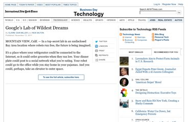 http://www.nytimes.com/2011/11/14/technology/at-google-x-a-top-secret-lab-dreaming-up-the-future.html?pagewanted=all